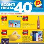 D-Piu Sconti 40% al 9 Agosto 2020
