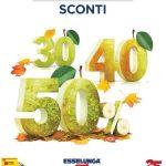 Esselunga SCONTI 30% 40% 50% 24 Settembre – 3 Ottobre 2020